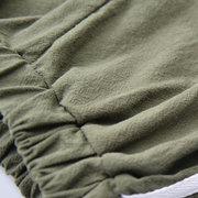 Garçons coton shorts bambin enfants pantalon décontracté court rayé pour 4Y-15Y