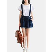 Casual Donne Cinghie Jeans Shorts Jumpsuits
