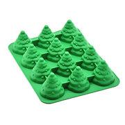 12 ثقوب شجرة عيد الميلاد قالب الكعكة قوالب سيليكون قالب الكعكة عموم القصدير صينية