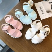 Girls Solid Color Soft Bottom Non Slip Comfy Simple Sandals