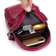 Genuine Leather Vintage 5.5inch Phone Bag There Layers Shoulder Bags Crossbody Bags For Women