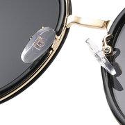 نظارات شمسية للنساء دائرة خمر بولارويد فوغ الأسود الاستقطاب الشعبية اللونية النظارات الشمسية
