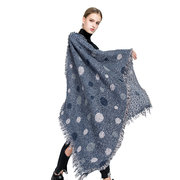 195CM Winter Women Dots Pattern Scarves Shawl Dual Use Super Long Artificial Cashmere Scarf