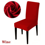 Elegant Jacquard Fabric Stretch Chair Cover Solid Color Chair Slipcover Home Decor