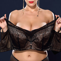 J Cup Plus Size Lace Push Up Busty Unlined Minimizer Bras
