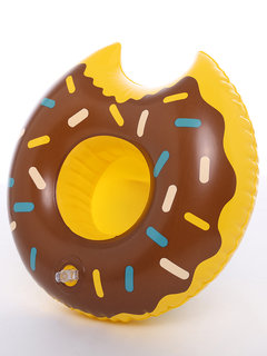 Drink Coaster Toy Doughnut Swimming Water Cup Holder