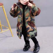Camouflage Print Hooded Thicken Toddler Winter Coats For 2-9Y