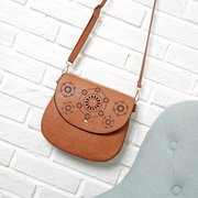 Elegant Hollow Out PU Leather Crossbody Bag Shoulder Bags For Women