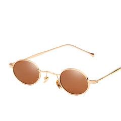 Protección visual UV 400 de alta definición Fácil de limpiar Gafas de sol metálicas de marco redondo pequeño