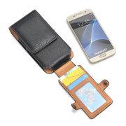 Hommes Portable Vintage Cuir PU 4.7 / 5.1 / 5.5 / 6.3inches Sac de téléphone Sac de taille Sac de carte