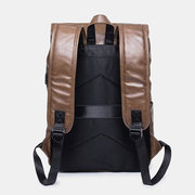 Men Solid Casual USB Charging Flap Multifunction Backpack