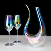 U Shaped Glass Wine Decanters Elegant Rainbow Colored Wine Container Sober Up Wine