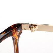 Женщины Мужчины Ретро очки для очков Полноразмерные очки Очистить объектив Металлический дизайнер