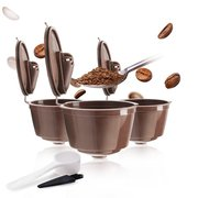 Coffee Capsules Filter Cup Refillable Reusable Coffee Dripper Tea Baskets Dolci Gusto Capsule