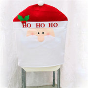 Christmas Santa Claus Snowmen Deer Chair Back Cover Party Festival Decor