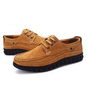 Männer echtes Leder klassische Moc Toe Outdoor Casual Schuhe