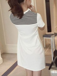 Mid-length Short-sleeved T-shirt Women's Dress