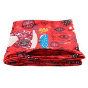 Women Winter Warm Print Pocket Scarf Outdoor Casual Neck Warmer Convenient Carrying Items Scarf