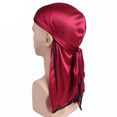 Men Women Solid Color Long Tail Pirate Hood Casual Sunscreen Dust-proof Beanie Hats Headscarf