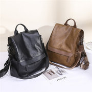 Women Faux Leather Large Capacity Backpack Multi-function Leisure Shoulder Bags