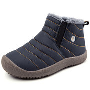 Boys Girls Pure Color Waterproof Warm Lining Snow Boots For Kids