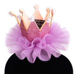 Princess Crown Pet Puppy dog Cat Horquilla Hair Arcos Tie Lace Pet Dog Clips para el Cabello Jewelry Grooming