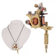 Argent GS100 Fashion Mini Tattoo Machine Pendentif Pendentif Avec Chain Necklace