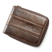 Ekphero RFID Antimagnetic Couro 11 Card Holder Zipper Coin Purse