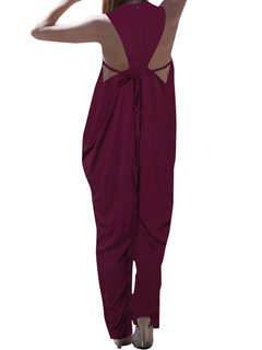 Sexy Backless Wide Legs Baggy Jumpsuit