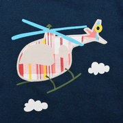 2Pcs Helicopter Pattern Baby Boys Summer Clothing Sets T Shirt + Shorts For 0-36M