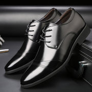 Men Classic Cap Toe Lace Up Pointed Toe Business Formal Dress Shoes