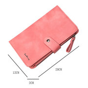 Women 9 Cards Slots Wallet Long Phone Bag