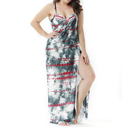 Womens Vintage Chinese Style Large Size Scarves Multi-function Beach Sunshade Swimsuit Cover Up