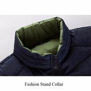 Plus Size 6XL Winter Outdoor Sport Addensare Colletto imbottito per uomo