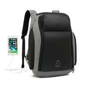 Large Capacity Business USB Charging Port Waterproof Travel 18 Inch Laptop Backpack For Men