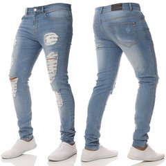 Skinny Ripped Holes Pencil Pants Jeans for Men