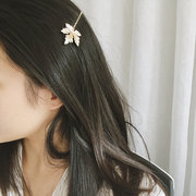 Cute Maple Leaf Bobby Pin Metal Plant Hair Clip Hairpin for Women Girls Hair Accessories