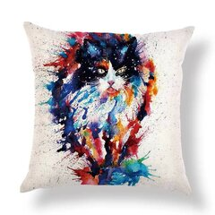 Honana Animal Pattern Cushion Cover Linen Cat Dog Bird For Home Decoration Pillow Case