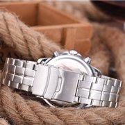 LONGBO relógios de prata impermeáveis luminosos luminosos de aço inoxidável dos relógios de homens para homens