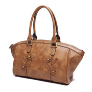 Brenice Vintage Flowers Tote Handbags Ladies Business Shoulder Shopping Bags