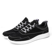 Men Genuine Pigskin Leather Lace Up Outdoor Sport Casual Sneakers