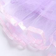 Фиолетовый Mesh Patch Малышей Девушки Принцесса Стиль Вечеринка Pageant Платье Для Косплей Костюм