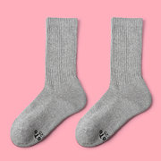 Mens Womens Cotton Solid Multicolor Antibacterial Socks Breathable Sport Ankle Middle Tube Socks