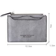 Porte-cartes de portefeuille en cuir de couleur bonbon de couleur petit porte-monnaie pour les femmes