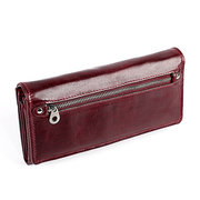 Women Cowhide Oil Wax Genuine Leather 11 Card Slot Wallet Multi-function Coin Purse