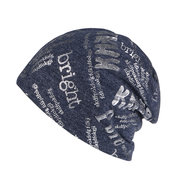 Womens Mens Vogue Winter Hot Stamped Letters Cotton Beanie Cap Earmuffs Warm Outdoor Casual Hats