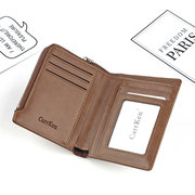 Solid Faux Leather 8 Card Slots Card Holder Wallet For Men