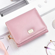 Women Trifold Simple Fresh Faux Leather Wallet Card Holder