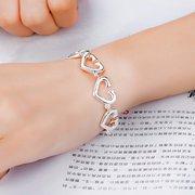 YUEYIN süßes Frauen-Armband-Silber-hohles Herz-Armband für Hochzeits-Geschenk