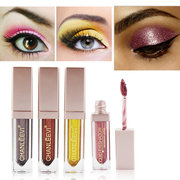 CHANLEEVI Glitter Liquid Eyeshadow Shimmer Ombretti Trucco Impermeabile Pigment Warm Nude Pink Red